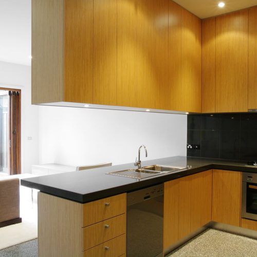 Opat Architects Housing East St Kilda kitchen and living room