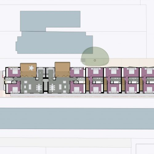 Opat Architects Housing East St Kilda first floor plan