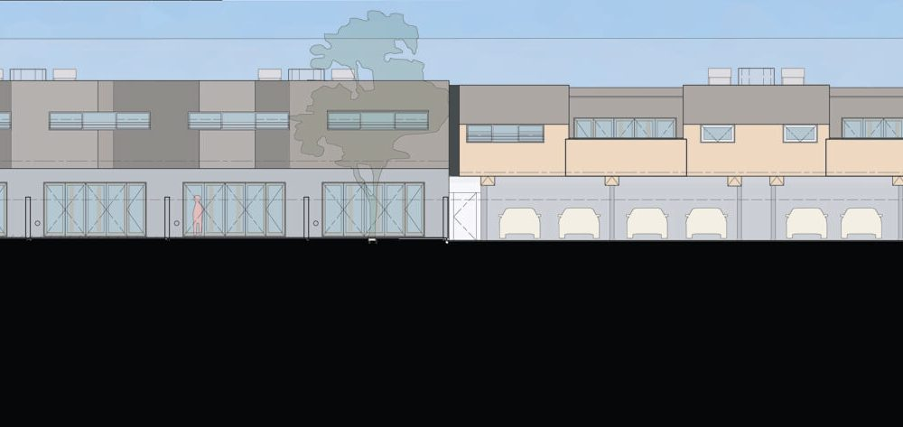 Opat Architects Housing East St Kilda north elevation drawing