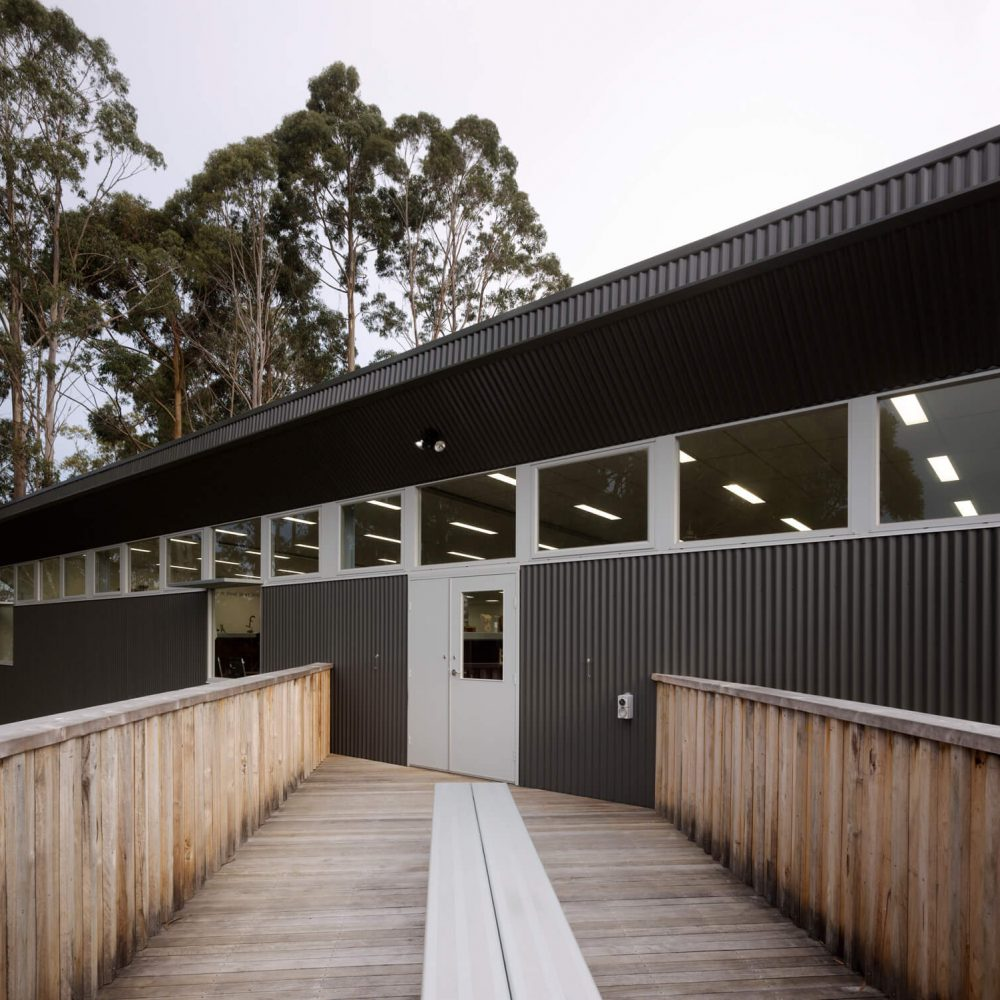 Opat Architects Australia Melbourne School Timboon sub school years 5 to 8 view from break out deck