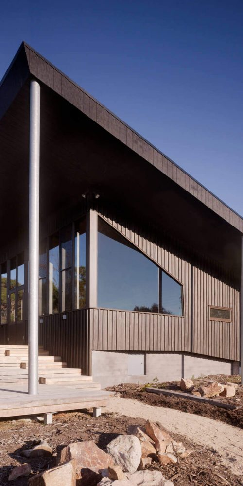 Opat Architects Couryard House Somers view of house from north west