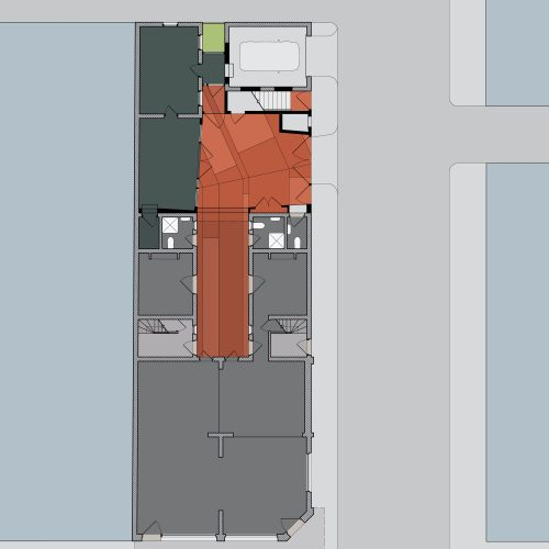 Opat Architects Infill Fitzroy Ground Floor Plan Drawing