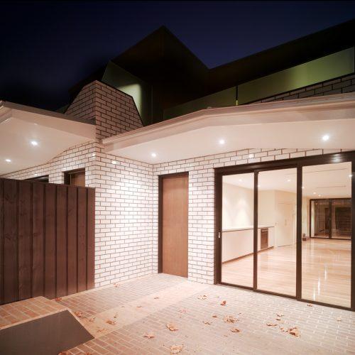 Opat Architects Dual Occupancy Homes Prahran East street front yard