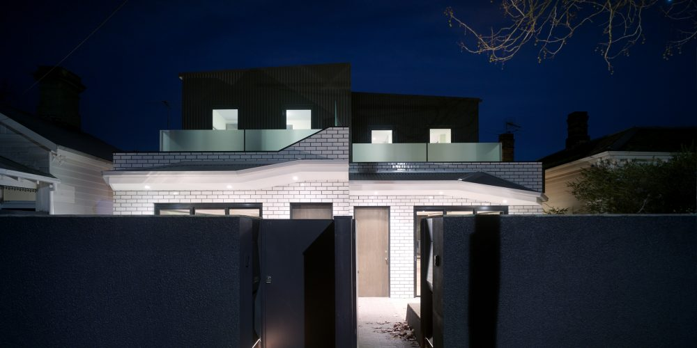 Opat Architects Dual Occupancy Homes Prahran East street frontage