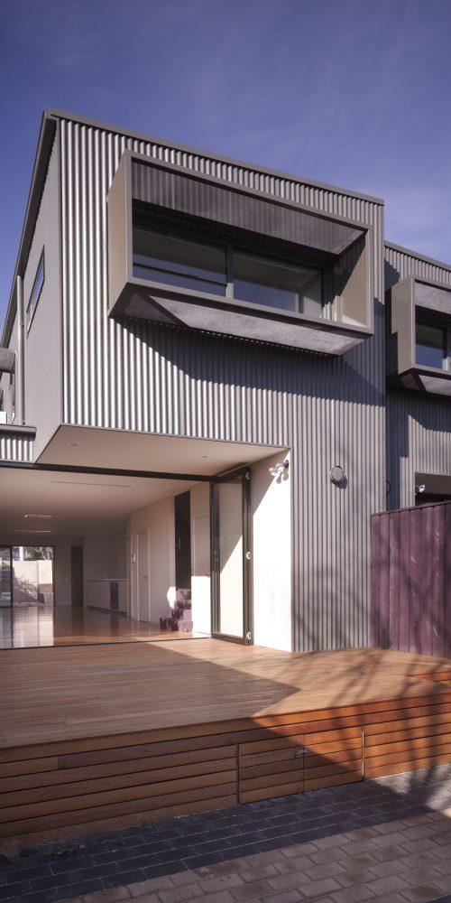 Opat Architects Dual Occupancy Homes Prahran East rear deck