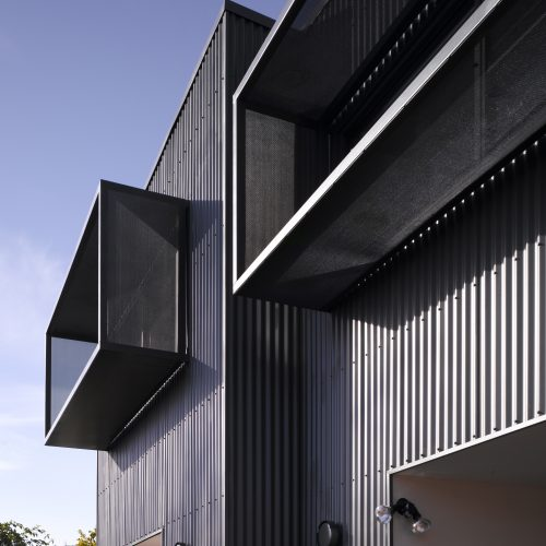 Opat Architects Dual Occupancy Homes Prahran East window screening
