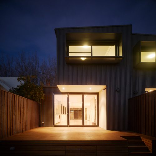 Opat Architects Dual Occupancy Homes Prahran East back deck