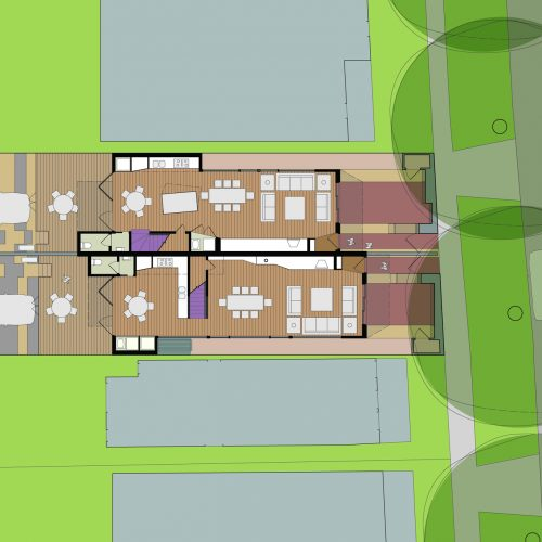 Opat Architects Dual Occupancy Homes Praharn East Ground Floor Plan drawing