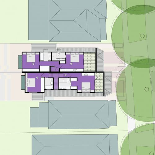 Opat Architects Dual Occupancy Homes Praharn East First Floor Plan drawing