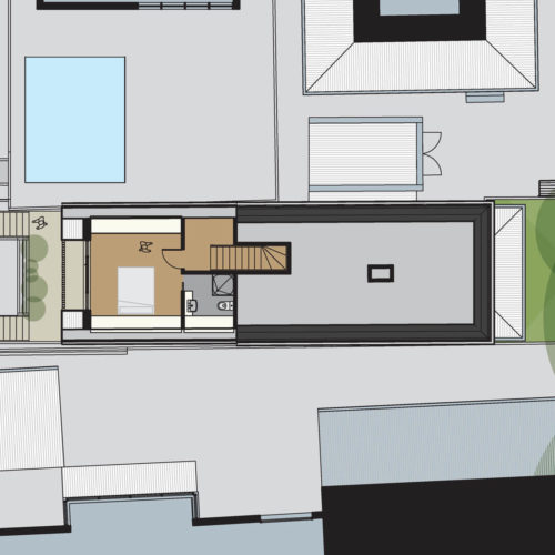 Opat Architects Prahran House II first floor plan drawing