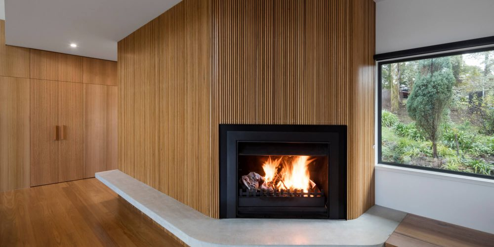 Opat Architects House Red Hill South fire place and window seating