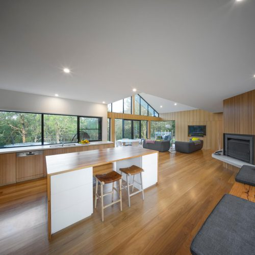 Opat Architects House Red Hill South kitchen and living rooms