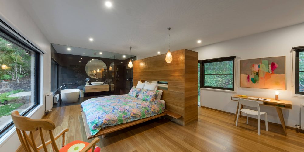 Opat Architects House Red Hill South master bedroom and ensuite