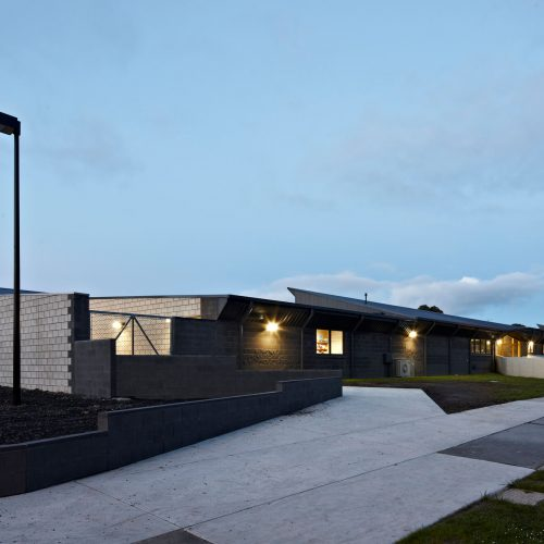 Opat Architects Inverloch Primary School main south western corner at dusk