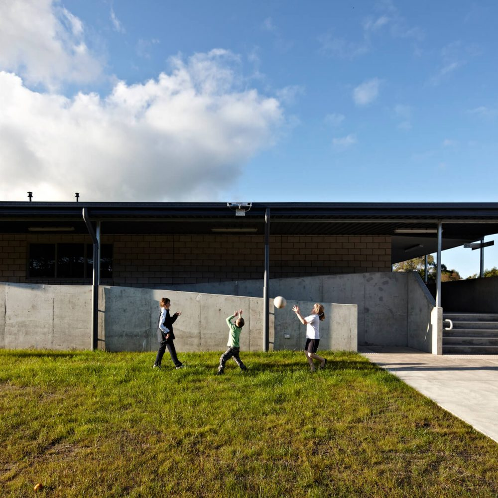 Opat Architects Inverloch Primary School class rooms, landscape and covered outdooor learning space
