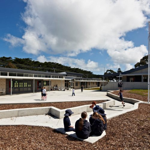 Opat Architects Inverloch Primary School landscape map of Inveloch. The flag pole marks the school location
