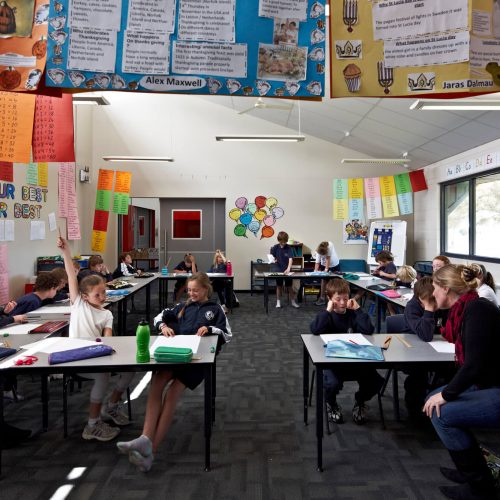 Opat Architects Inverloch Primary School typical class space with flexible door system