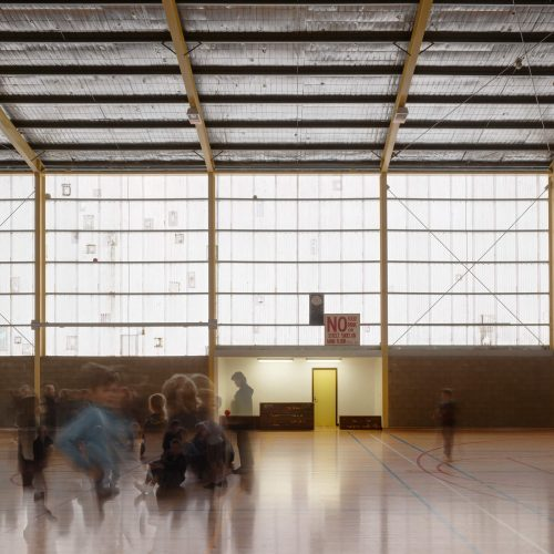 Opat Architects Recreaction Community Centre Timboon photo of new floor and scoring booth
