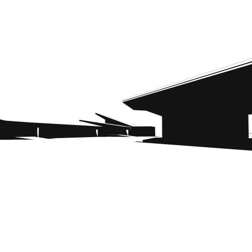 Opat Architects Rural Learning Centre Marlo Competition black and white render sciography study