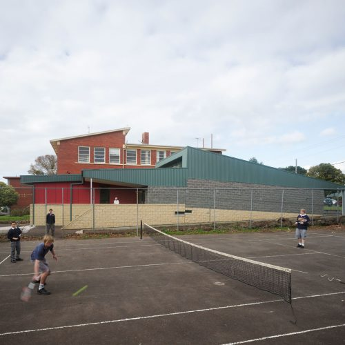 Opat Architects Camperdown School new middle school building. Photo of exterior southern elevation.
