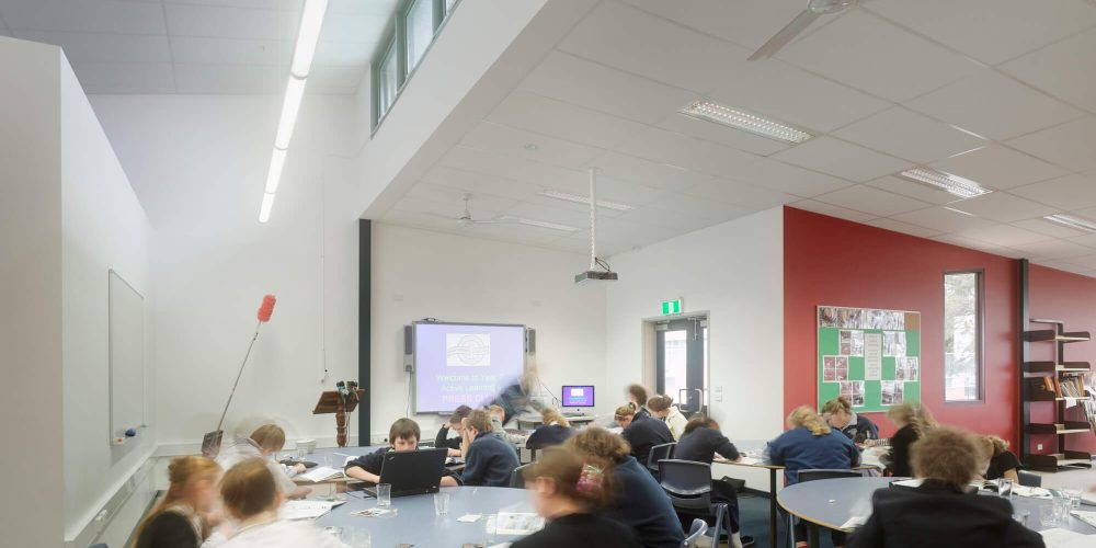 Opat Architects Camperdown School new middle school building. Photo of interior common space.