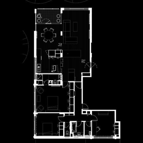 Opat Architects Toorak Apartment Refurbishment plan drawing