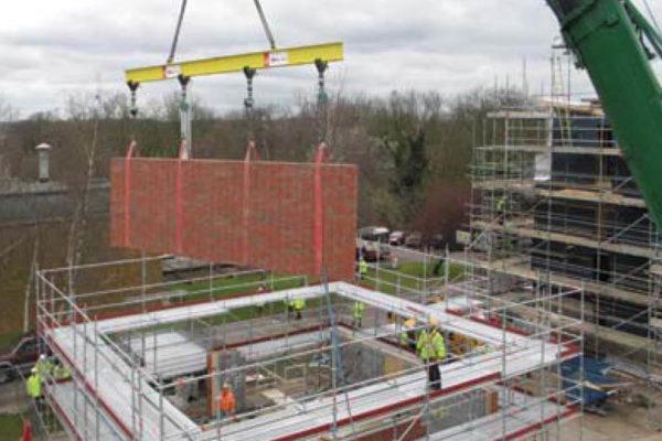 brick panel on crane
